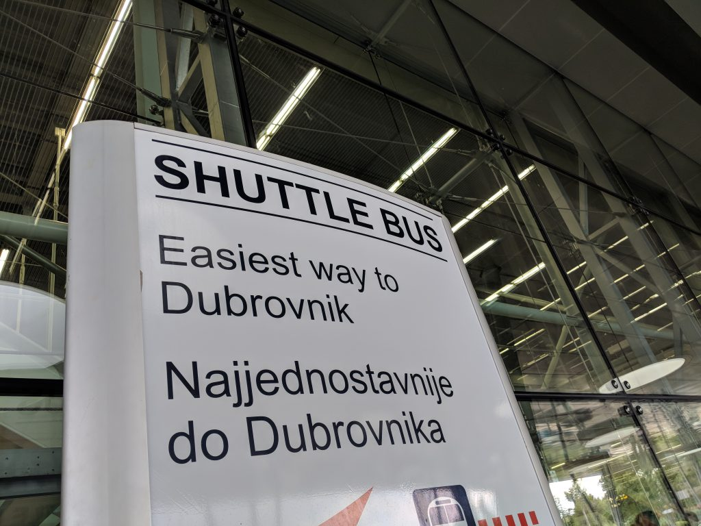 dubrovnik airport bus