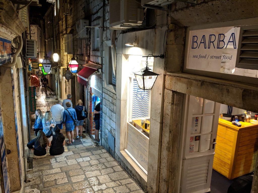 cool restaurant Dubrovnik