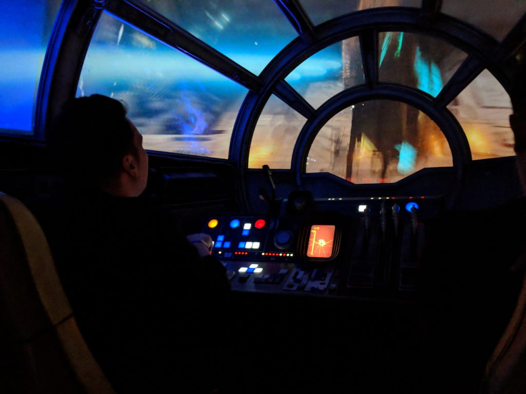 millennium falcon disneys star wars park florida galaxy