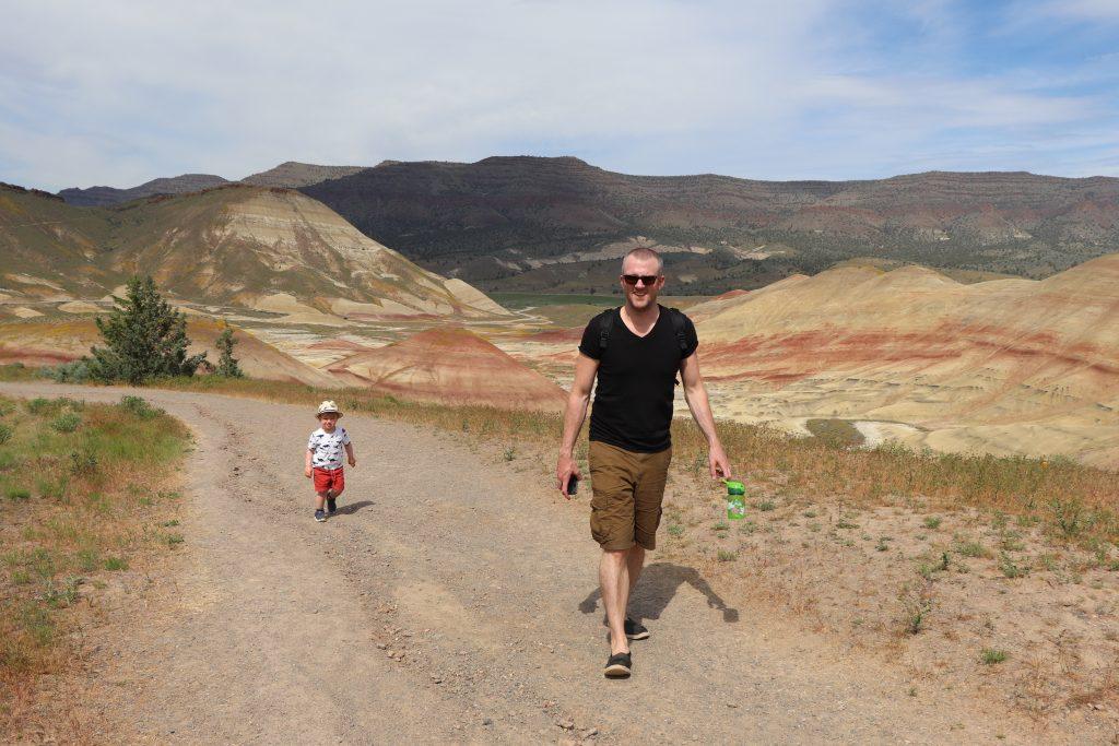 two-week US west coast road trip Oregon RV painted hills