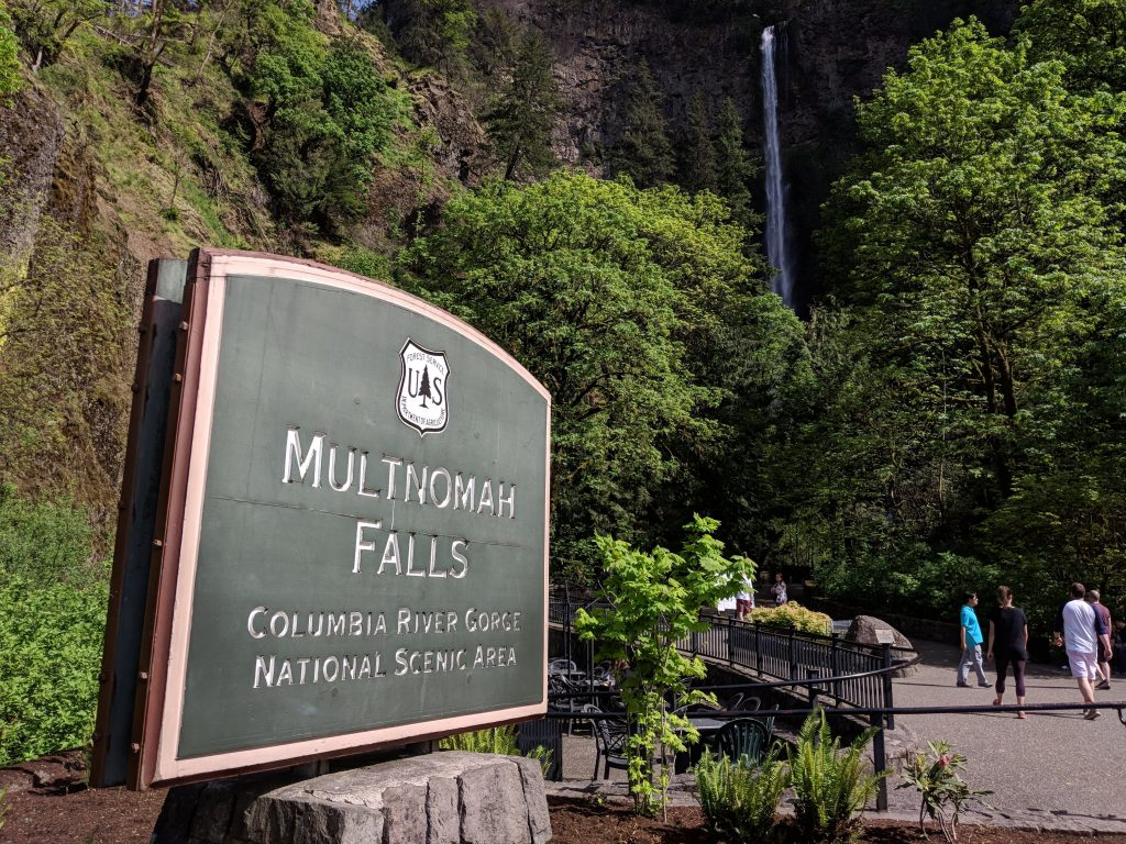 day trip from portland two-week US west coast road trip Oregon RV waterfall Multnomah Falls