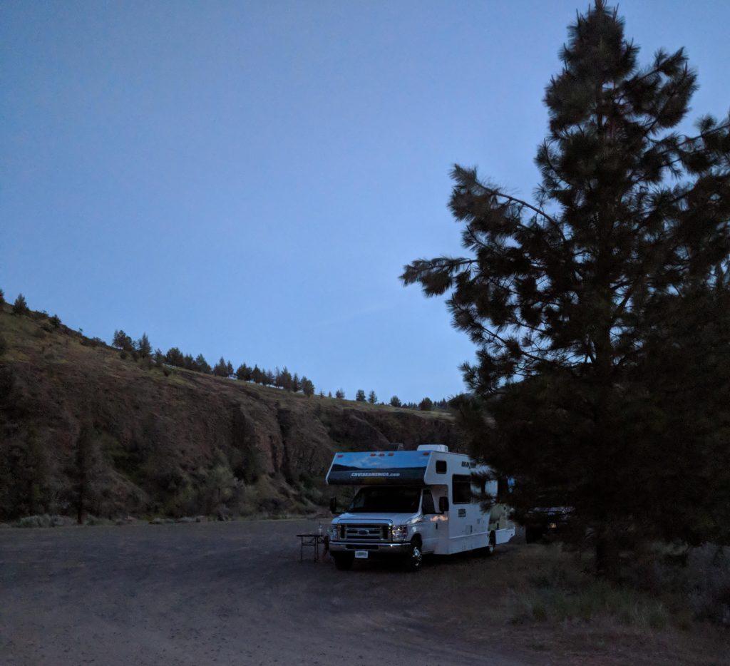 two-week US west coast road trip Oregon RV McKenzie river waterfall