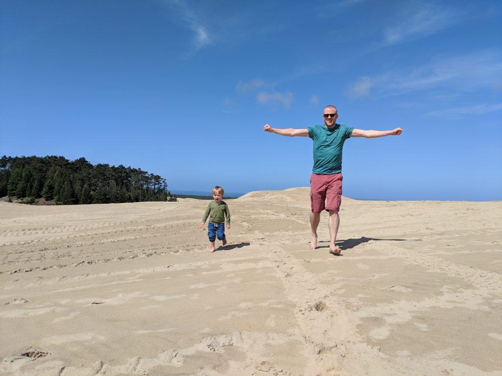 two-week US west coast road trip Oregon RV dunes beach
