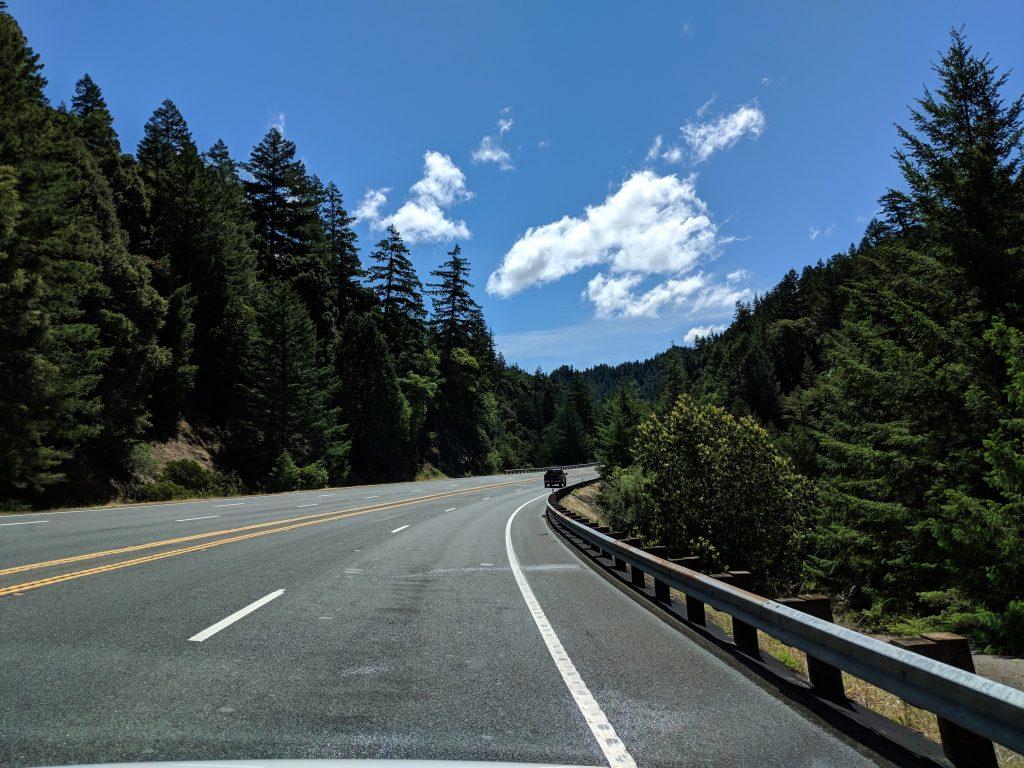 two-week US west coast road trip california RV redwood