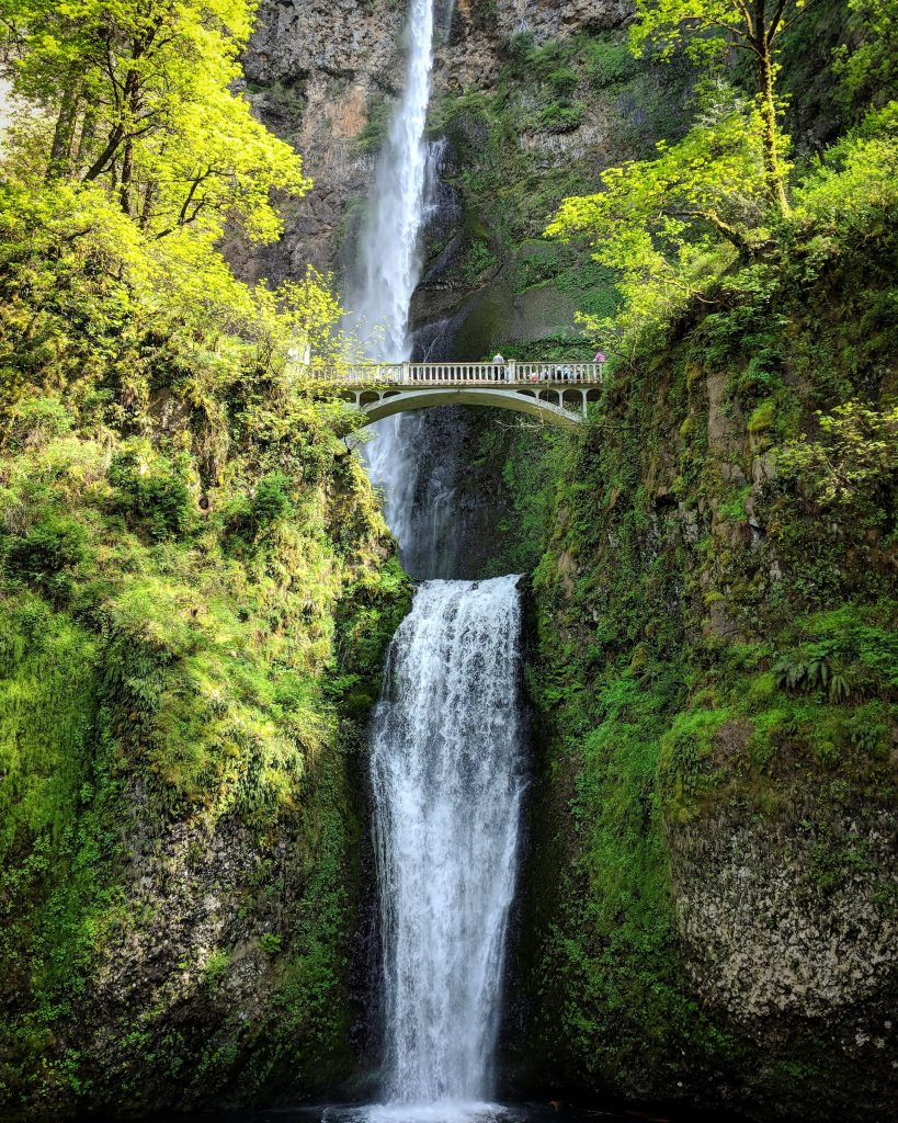 two-week US west coast road trip Oregon RV waterfall Multnomah Falls