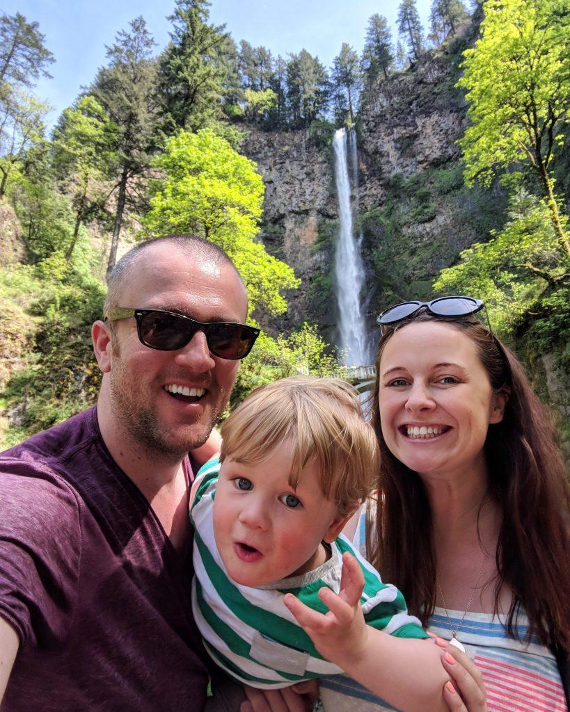 two-week US west coast road trip Oregon RV waterfall Multnomah Falls
