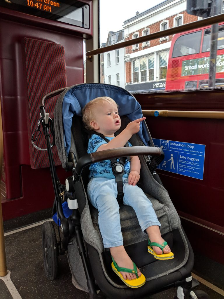 pushchairs on buses London