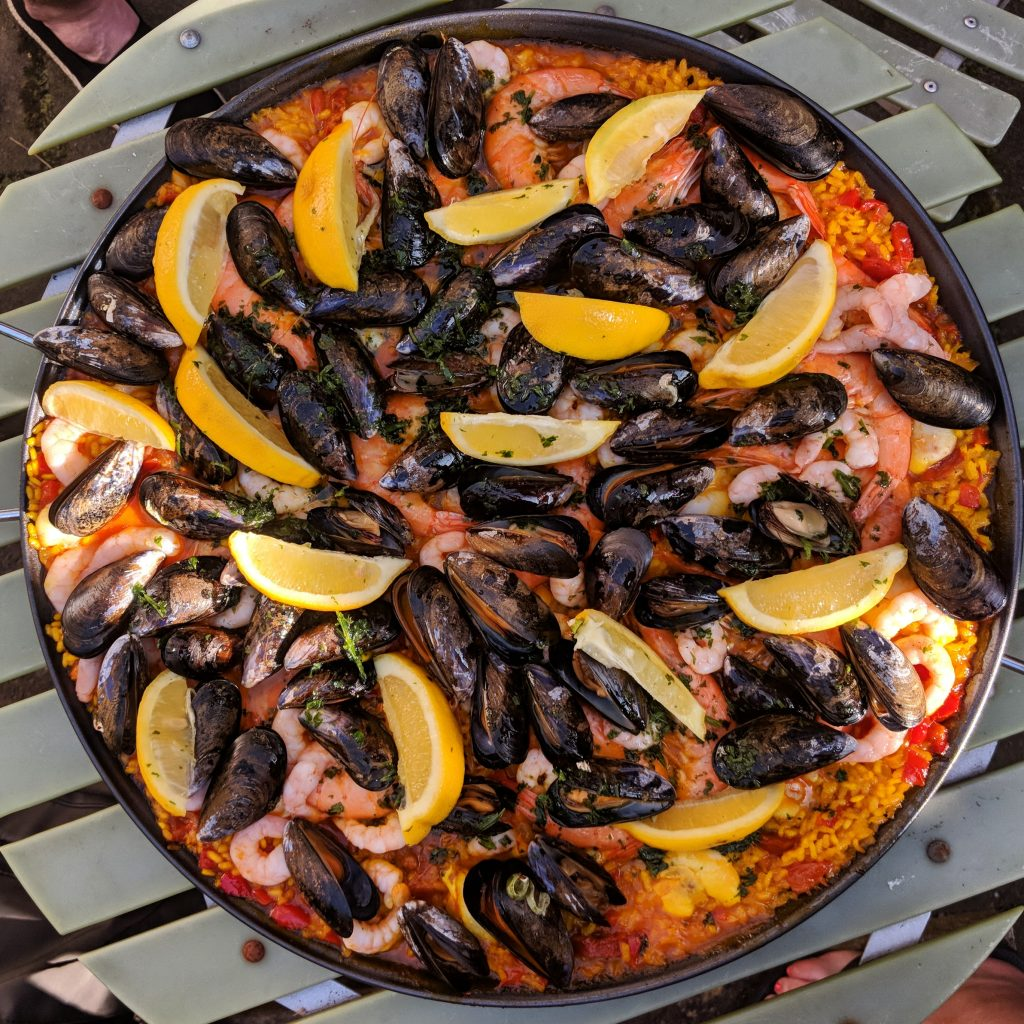 holiday at home paella recipe
